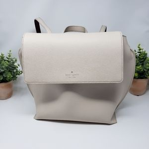 Kate Spade White Large Leather Backpack